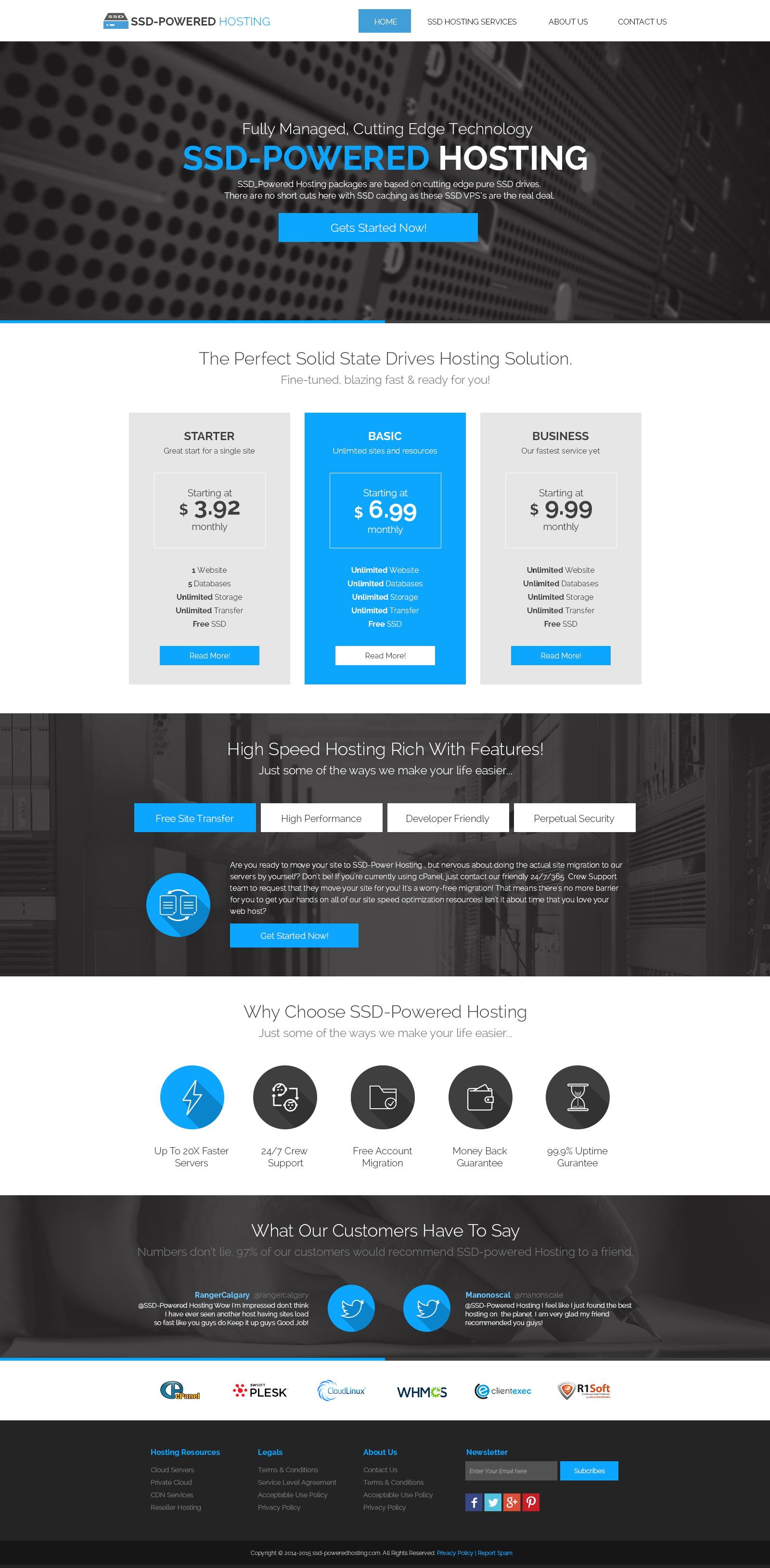 SSD-Powered Hosting - Index